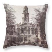 Tarrant County Courthouse Throw Pillow