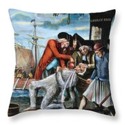 Tarring & Feathering, 1773 Throw Pillow