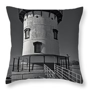 Tarrytown Lighthouse Bw Throw Pillow
