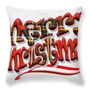 Tartan Merry Christmas Throw Pillow
