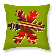 Tartan Snowflake On Green Throw Pillow