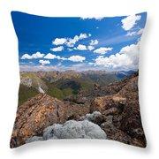 Tasman Mountains Of Kahurangi Np In New Zealand Throw Pillow