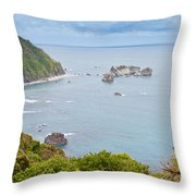 Tasman Sea At West Coast Of South Island Of New Zealand Throw Pillow