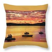 Tasmanian Suset Throw Pillow