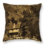 Tassajara Hot Springs Monterey County Calif. 1915 Throw Pillow