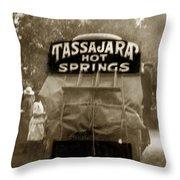 Tassajara Hot Springs Stage Monterey Co. California Circa 1910 Throw Pillow