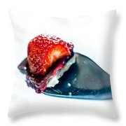Taste Sensation On A Silver Spoon Throw Pillow