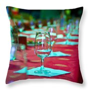 Tasting In Red Throw Pillow