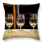 Tasting Wine Throw Pillow