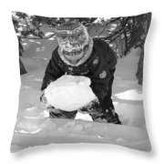 Tasting Winter Throw Pillow