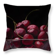 Tasty Cherries Throw Pillow