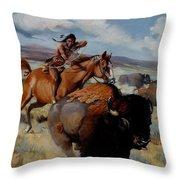 Tatanka Throw Pillow
