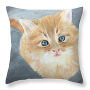 Tater Bud Kitty Throw Pillow
