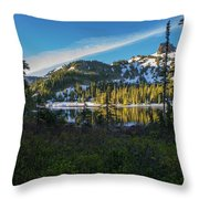 Tatoosh Peek Throw Pillow