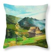 Tatry Mountains Throw Pillow