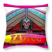 Tattoo Sign Digital Throw Pillow