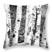 Tattoo Trees Throw Pillow