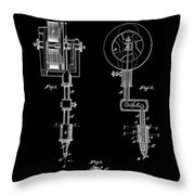 Tattooing Machine 3 Patent Art 1891 Throw Pillow by Daniel Hagerman