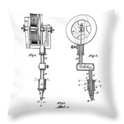 Tattooing Machine Patent Art  1891 Throw Pillow