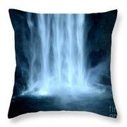 Taughannock Falls Closeup  Throw Pillow
