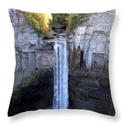 Taughannock Falls  Throw Pillow