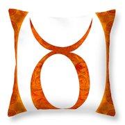 Taurus And Sacral Chakra  Abstract Spiritual Artwork By Omaste W Throw Pillow
