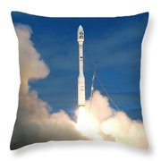 Taurus Rocket Launch Throw Pillow