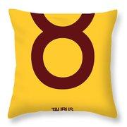 Taurus Zodiac Sign Brown Throw Pillow