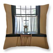 Tavern Window And Chair Throw Pillow