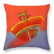 Tavira Fishing Boat Throw Pillow