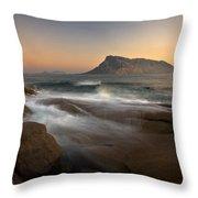 Tavolara Island Throw Pillow