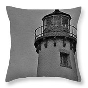 Tawas Point In The Rain Throw Pillow