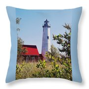 Tawas Point Lighthouse...from Tawas Bay Side Throw Pillow