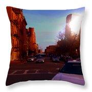 Taxi - Boston Throw Pillow
