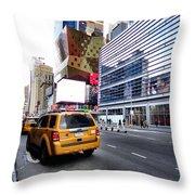 Taxi Man Throw Pillow