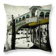 Taxi Venice Italy Style Throw Pillow
