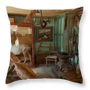 Taxidermy At The Holzwarth Historic Site Throw Pillow