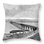 Tay Rail Bridge, 1879 Throw Pillow