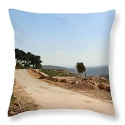 Taybeh Side Road Throw Pillow