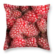Tayberries  Throw Pillow