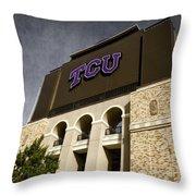 Tcu Stadium Entrance Throw Pillow