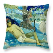 Te Arii Vahine .the Queen Of Beauty Or The Noble Queen. Throw Pillow