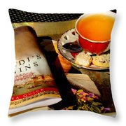 Tea And A Read Throw Pillow