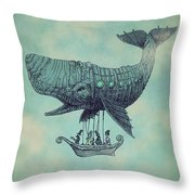 Tea At Two Thousand Feet Throw Pillow