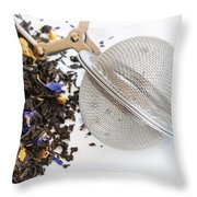 Tea Ball Infuser And Scented Tea Throw Pillow