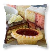 Tea Cakes Throw Pillow