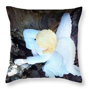 Relaxing At Home Throw Pillow