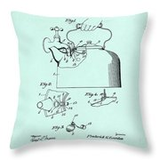 Tea Kettle Patent 1923 Throw Pillow