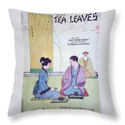 Tea Leaves Throw Pillow
