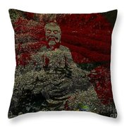 Tea Meditation Throw Pillow